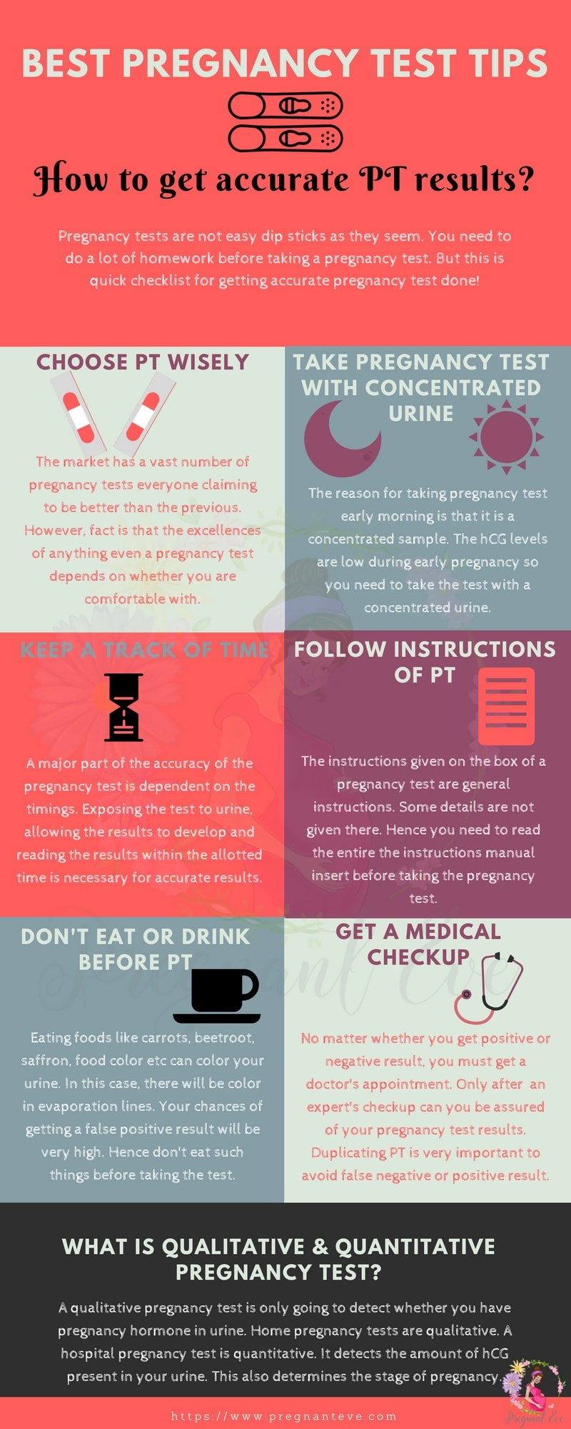 Best Pregnancy Test Tips Infographic