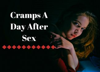 Cramps A Day After Sex