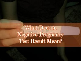 What does a negative pregnancy test mean?