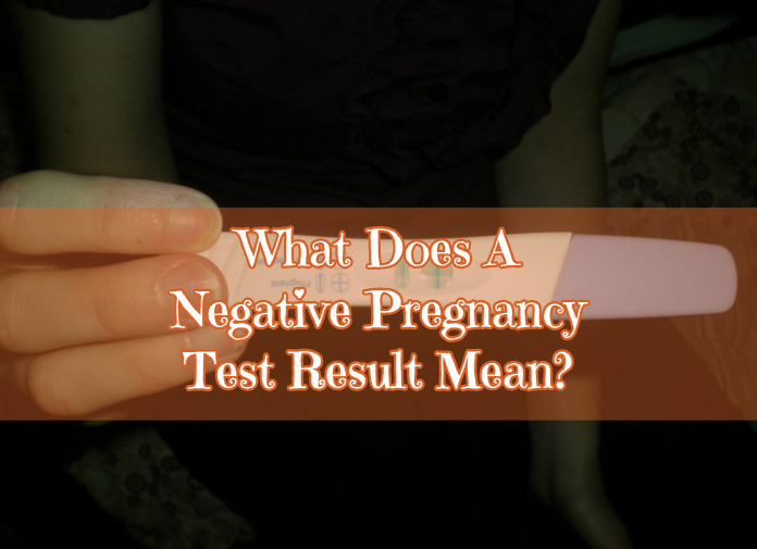 What does a negative pregnancy test result mean?
