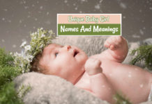 Unique Baby Girl Names And Meanings